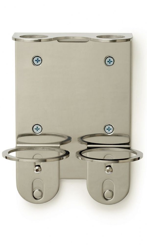 Duck Island Chrome Double Wall Mounted Bracket for 250ml Bottles